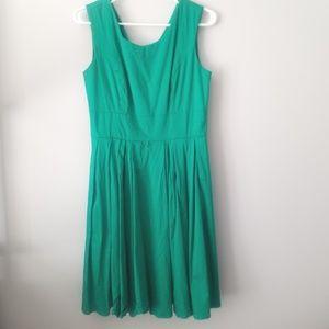 Calvin Klein Tea Length Green Dress